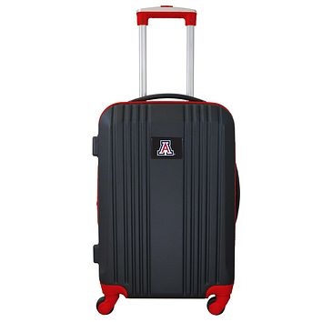 Arizona Wildcats Luggage Carry-on 21in Hardcase two-tone Spinner 100% ABS-RED