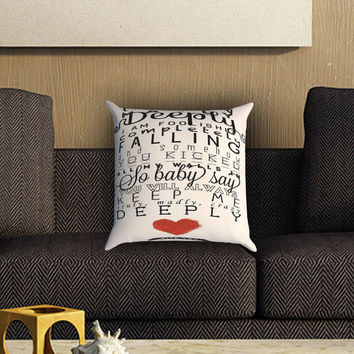 One Direction Truly Madly Deeply Pillow Cover , Custom Zippered Pillow Case One Side Two SIde