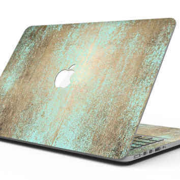 Gold Scratched Foil v4 - MacBook Pro with Retina Display Full-Coverage Skin Kit