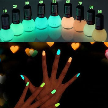Luminous Oil Candy Color Fluorescent Luminous Transparent Nail Polish