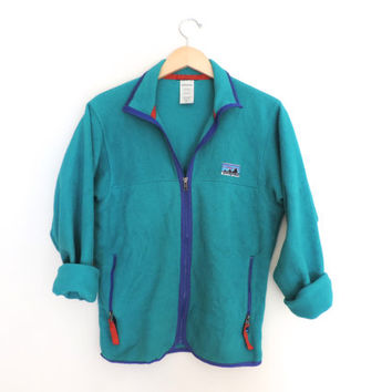 Vintage Patagonia Big Label Fleece Zip Up Jacket // Size SMALL