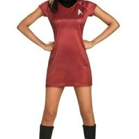 Rubie's Costume Star Trek Into Darkness Uhura Dress, Red, Large(14-16)