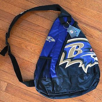 Baltimore Ravens BackPack / Back Pack Book Bag NEW - TEAM COLORS - SLING