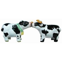 Westland Giftware Mwah Magnetic Cow and Bull Salt and Pepper Shaker Set, 2-1/2-Inch