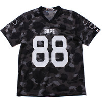 COLOR CAMO MESH FOOTBALL TEE