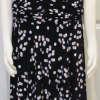 Vintage Dress Vintage Clothing Modest Dress Size 18 Dress Plus Size Dress Plus Size Clothing Day Dress Polka Dot Dress Stretchy Dress Blue