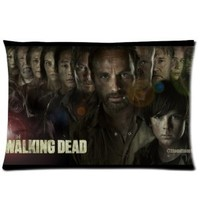 The Walking Dead Pillowcase king Size 20x36 inch (50 x 90 cm) pillow cover Print on both sides