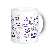Spooky Faces Classic White Coffee Mug