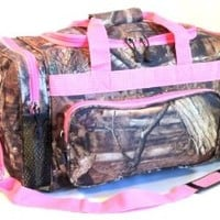 "Mossy Oak Pink Camouflage Duffle Bag 20"" Luggage Set"