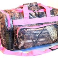 "Mossy Oak Pink Camouflage Duffle Bag 20"" Luggage"
