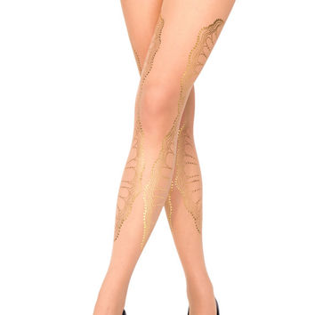 Nude sheer tights, La Boheme, S-M, L-XL, Flash Back collection