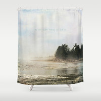 He Who Seeks Beauty Shower Curtain by RDelean