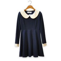 Vintage Inspired Dress With Peter Pan Collar from Moooh!!