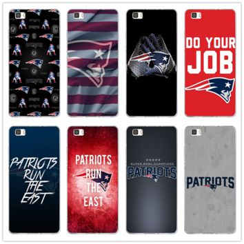 Soft Silicone Mobile Phone Case for Huawei P8 P9 P10 P20 Mate 10 Pro Y5 Y6 II Y7 Honor 6X 7X 9 Lite New England Patriots Logos
