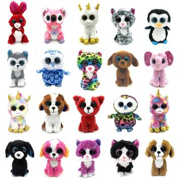 20 Styles 15cm Ty Beanie Boos Animal Unicorn Cute Husky Dog Rabbit Soft beanie boo Owl Stuffed Doll Plush Toy Ty Toys For Girl