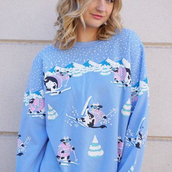 Snow Cow Sweatshirt
