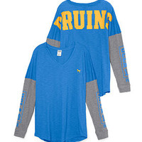 UCLA Long Sleeve V-neck Tee - PINK - Victoria's Secret