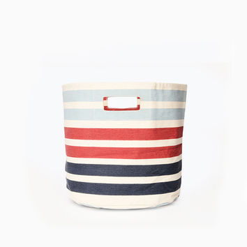Three Stripe Canvas Storage Bin