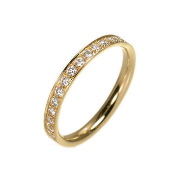 Full Diamond Eternity Band - 0.62 Carat Round Diamonds - 14k Solid Gold.