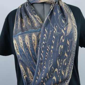 Pride and Prejudice book cover KNIT scarf - Infinity or Regular style - made to order
