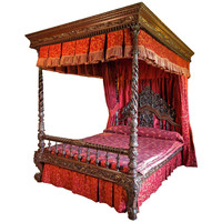 19th Century Indian Four Poster Bed