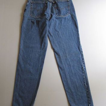 Vintage Levis 550 High Waisted Mom Jeans Relaxed Tapered Size 10 Blue 28 X 32