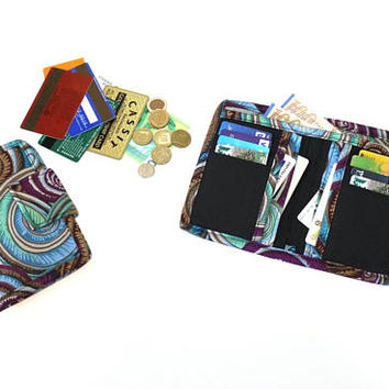Fabric Bifold Wallet for Women - Billfold Wallet - ladies wallet - cash wallet - womens wallet - coin pocket wallet  - card holder wallet