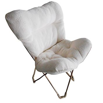 Folding Plush Butterfly Chair