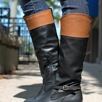 Equestrian Hearts Boot - Black