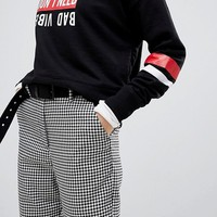Pull&Bear Gingham Print PANTS at asos.com