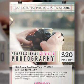 Photography Flyer Template | Flyer Template | Photography Flyer | Instant Download | PSD Template | Photography Template