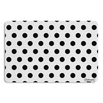 Black Polka Dots on White Placemat All Over Print by TooLoud