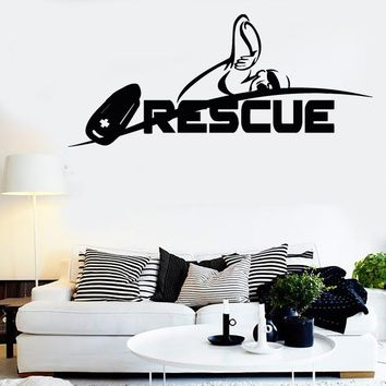 Vinyl Decal Wall Stickers Rescue Swimming Swim Water Sport Extreme (z1676)