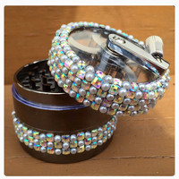 Grinders-- Crank-- Pearl and Iridescent Checkered Crank