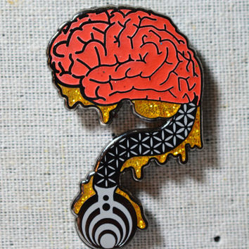 af07ac63469 Where is My Mind V4 Bassnectar Hat Pin from FestivalTreasures