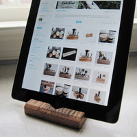 iPad Stand - Reclaimed Wood Oak Fence Board Rustic Wooden ipad Holder Stand