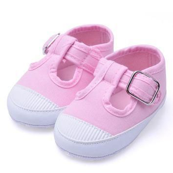 Newborn Baby Soft Anti-Slip Shoes Girl Footwear Crib Canvas Shoes Sneakers baby girls