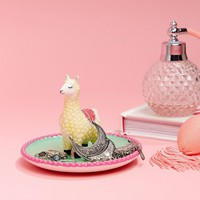 Sass & Belle Llama Pom Jewelry Dish at asos.com