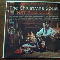 Vintage Nat King Cole The Christmas Song Vinyl Record Album XMAS 1967 Silent Night Deck the Halls Joy First Noel Vocalist