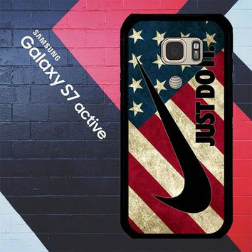 Nike American Flag L1969 Samsung Galaxy S7 Active Case