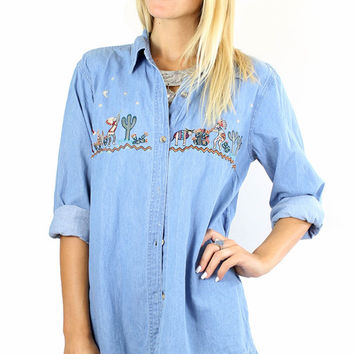 Southwestern Denim Shirt