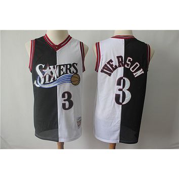 Philadelphia 76ers 3 Allen Iverson Double Color Basketball Jersey