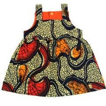 Monarch Butterfly African Wax print Baby Dress