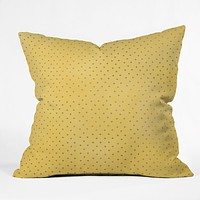 Allyson Johnson Sunny Yellow Dots Throw Pillow