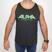 Alpha Tank Top. Mens Workout Tank Top. Alpha Lifestyle. Mens Lifting Tank Top. Mens Bodybuilding Tank. Mens Powerlifting Tank. Mens Gym Tank
