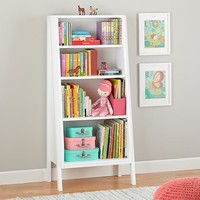 Graduated Tall Bookcase (White)