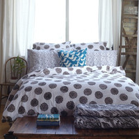 Duvet in Brown Waffle by Virginia Johnson
