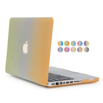 for macbook air pro retina rainbow gradient case hard plastic for apple mac book 11 12 13 15 protector