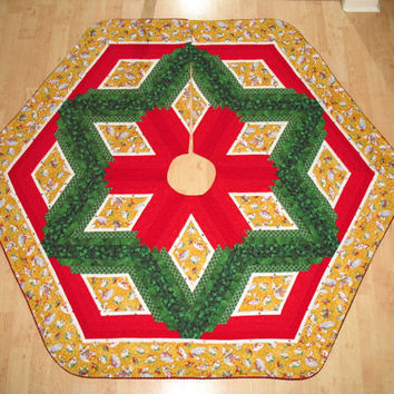 Christmas Tree Skirt Quilt  -  12 Days of Christmas  -  138
