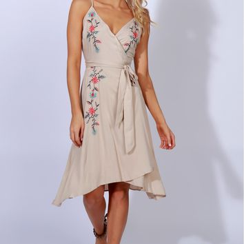 Flow With Me Floral Embroidered Dress
